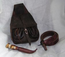 Leather bag by Noctiped