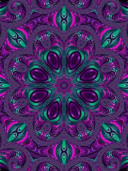 Jewel Tone Fractal Kaleidoscope by Kaleiope-Studio