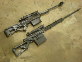 two two two sniper rifles wahaha ! by drnightshade