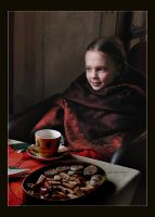 Portrait with biscuits by BrokenLens