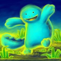 Quagsire Playing in the Mud by naturalradical