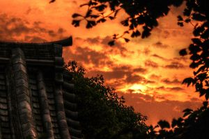 Sunset in Japan by mcastiello