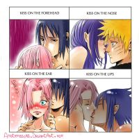 SasuSaku-HinaNaru Meme kiss by Amaterasu82