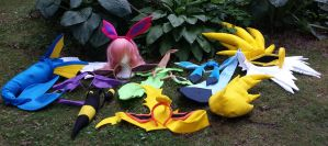 Eeveelutons Cosplay Ears Tails and Ruffs by Hop-is-my-Hero