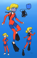 Penny 2015 Scuba (FDE) - Color Commission by The-Sakura-Samurai
