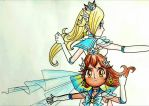 Sailor Rosalina and Sailor Chiko by Derochi