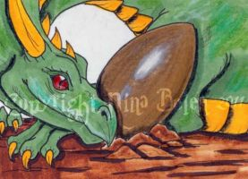 The Golden Egg ACEO by The-GoblinQueen