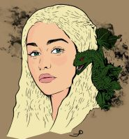 Daenerys Targaryen - colors by joaood
