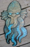 Cthulhu wood painting C by missmonster