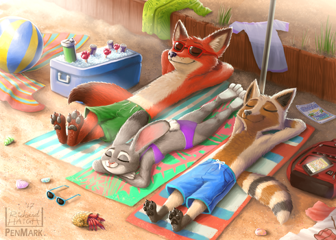 Comm: Zootopia Beach Day with Max by Pen-Mark