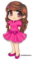Chibi In Pink by sweetpink88