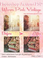 Photoshop Action+PSD Warm Pink Vintage by AkiHowaito