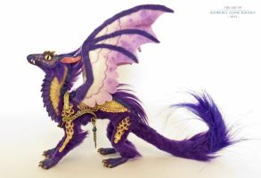 Mini Dragon:purple/gold by kimrhodes
