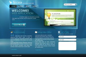 Website Template - Nicea by iconnice