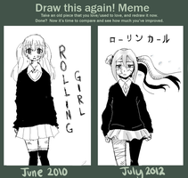 Draw This Again: Rolling Girl by Misoroll
