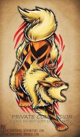 Arcanine tattoo commission by RetkiKosmos