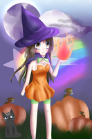 Pumpkin Witch by FizziBerry