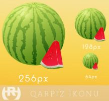 Qarpiz ikonu - Watermelon icon by rasulh