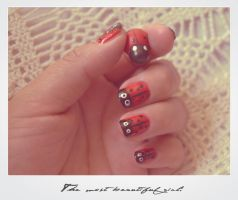 Ladybug nails by Wendybell80