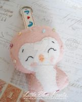Pink Penguin Plushie Keychain by littleblueheartsuk