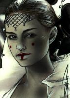 Padme Sketch Card 3 by RandySiplon