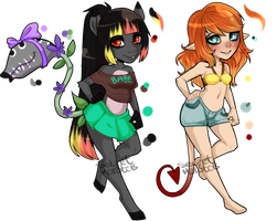 Anthro adopts by SecretMonsters