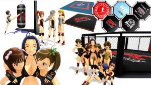 MMD AIDOLMASTER MMA TEAM PACK DL (update tato fix) by aittel