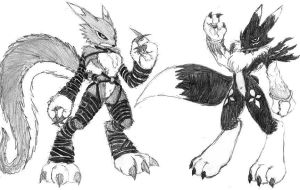 Digimon: Fang and Shadow by Heckfire