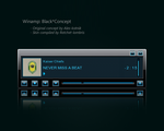 Winamp: Black Concept - Coded by Ratchet-lombris