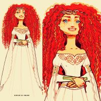 Disney Princess Wedding Dresses: Merida by lulu-ibeh