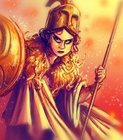 Fiery Athena - Sketch_Dailies by peach-mork