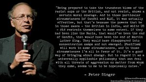 Peter Singer on Pacifism by AmericanDreaming