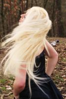 long blond hair in the wind by annibunny02