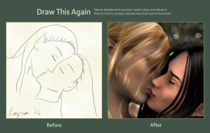 Elf Kiss - Before and After by Lazra