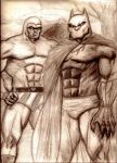 The Black Panther and Lothar as The Phantom by MisterHydesSon