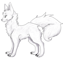 Wolf Standing Pose by thehayleygirl1
