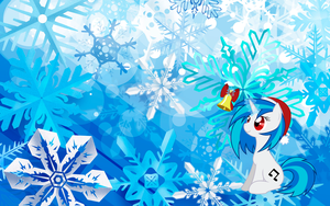Vinyl scratch winter wallpaper by nintenman1