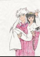 Inu's and Kagome's Wedding by SailorArctic