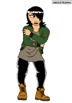Casual Ashi (colored) by Breezykiid94