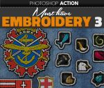 Embroidered Logo Photoshop Action by PsdDude