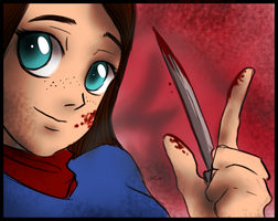 Hannibal - Abigail and her knife by FuriarossaAndMimma