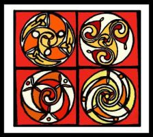 celtic spirals, just for fun by one-rook