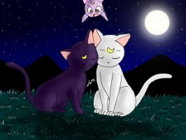 Luna and Artemis by alfa995