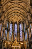 Cathedral in Lille by Robalka