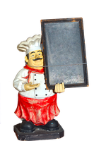 Chef and Blackboard Png Stock by jojo22