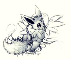 Shiny Eevee by WhiteSpiritWolf