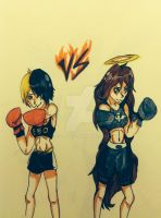 Heather VS  jasmine by DS-AL-Z