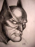 Batman Portrait 9-11-2012 by myconius