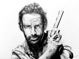 Rick Grimes - The Walking Dead by LornaKelleherArt
