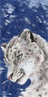 Traditional Commission- Snow Leopard by Lilith-the-5th